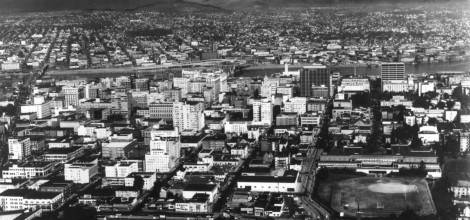a2001-007-479-cofc-aerial-downtown-portland-to-mt-hood-with-civic-stadium-c1963